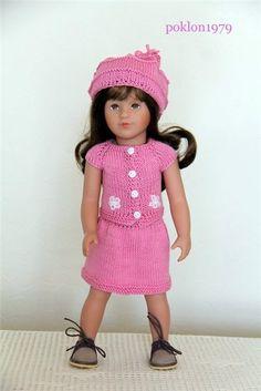 Наряд (юбочка+кофточка+берет с кисточками) для Мари Круз (Тони) от Кете Крузе 37 см / Одежда для кукол / Шопик. Продать купить куклу / Бэйбики. Куклы фото. Одежда для кукол