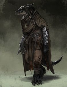 [Art] Kanarak, Dragonborn Warlock, Wanderer and Druid Enthusiast • r/DnD