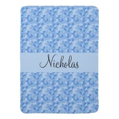 Blue Camouflage Baby Blanket