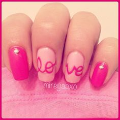 VALENTINE by mireyaaxo #nail #nails #nailart...