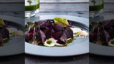 Pugilese beet salad with fresh mint
