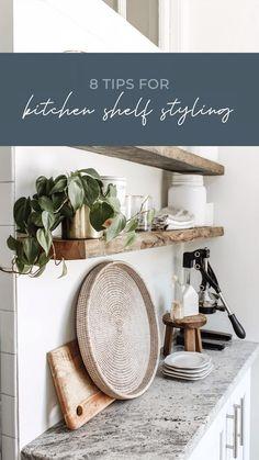 New Kitchen, Kitchen Decor, Kitchen Ideas, Home Decor Styles, Diy Home Decor, Kitchen Shelves, Kitchen Storage, Kitchen Styling, Cozy House