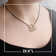 SMALL MONOGRAMS. Plata .925 con baño de oro. #monograms #christmas #present #beautiful #necklace #cute #gold #stones #gift #roca