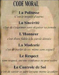 Morele code - Apocalypse Now And Then Positive Attitude, Positive Vibes, Le Moral, Quote Citation, French Quotes, French Language, Morals, Positive Affirmations, Decir No