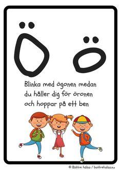 aktiviteter för barn, barnaktiviteter, pyssla och lek, knep och knåp, lära sig alfabetet, lära sig bokstaven Ö, röra på sig, lekar, rörelselekar