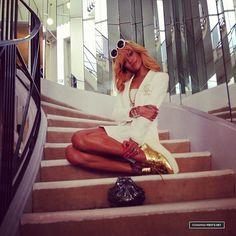 Rihanna at COCO CHANEL'S apartment in Paris 2013 #Rihanna #Woman #Beauty