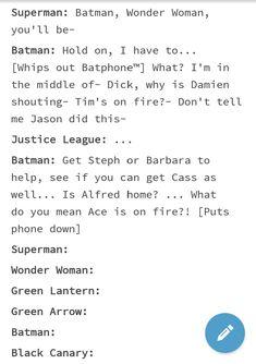 Bruce Wayne Batman Batfamily Tim Drake Damian Wayne Jason Todd Dick Greyson Justice League