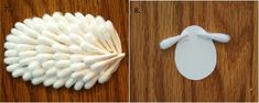 How to Make Cute Lamb from Cotton Swab | www.FabArtDIY.com