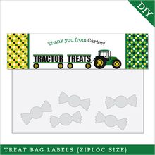 Tractor Party Treat Bag Label (Digital File)