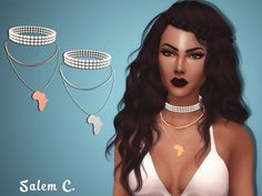 Africa Necklace by Salem C. at TSR via Sims 4 Updates Check more at http://sims4updates.net/accessories/africa-necklace-by-salem-c-at-tsr/