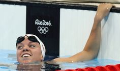 Canada's Kierra Smith smiles after winning a heat of the women's 200-meter breaststroke during the swimming competitions at the 2016 Summer Olympics, Wednesday, Aug. 10, 2016, in Rio de Janeiro, Brazil. (AP Photo/Lee Jin-man)