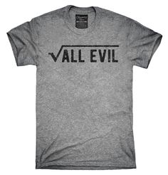 The Root Of All Evil Funny Math Shirt, Hoodies, Tanktops