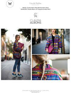 Claudia Albons blog (December 2014) FW14 Collection. Colorful jacket Giralda.