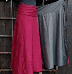 Wrap Maxi Reversible Skirt Cotton Long Skirt Boho Maxi by Coisas4u