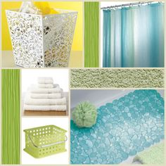 Check out our blue, green, and white bathroom accessories for a bathroom that is relaxing!