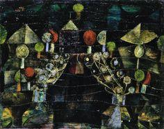 Paul Klee / Women's Pavilion. Dimensions: w52.3 x h41.7 cm