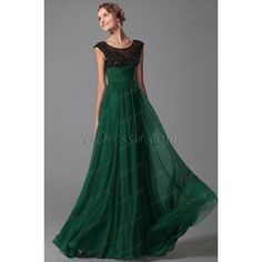 eDressit Green Cap Sleeves Evening Dress Prom Gown (00152704) ($183) ❤ liked on Polyvore featuring dresses, gowns, prom evening gowns, green ball gown, green prom dresses, green gown and prom evening dresses