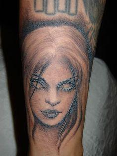 nice 3d clover thigh tattoo women images
