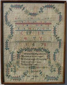 George III Silkwork Sampler Jane Matthews 1809
