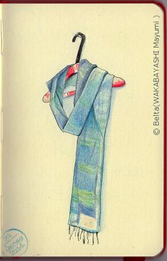 2014_01_24_stole_01_s my friend's stole.   for this drawing I used: Faber castell polychromos Molesikine sketchbook  © Belta(WAKABAYASHI Mayumi )