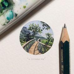 Paintings for ants: um cartão postal por dia para formigas