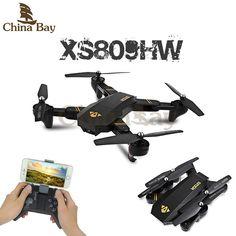 RC Dron Visuo Mini Foldable Selfie Drone with Wifi FPV 0.3MP or 2MP Camera