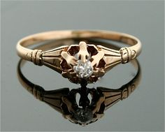 Antique Diamond Ring  14k Gold and Diamond Ring by SITFineJewelry, $995.00