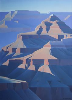 Ed Mell, Grand Canyon Oil on canvas, 66 x 48 inches