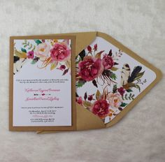 Rustic Water color  Wedding Invitations by gracefulpaperie on Etsy #weddingdeals #lovestruckdeals