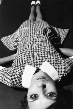 """hauntedbystorytelling: """"  F.C. Gundlach :: Op Art-Fashion, Cathy Dahmen wears Falke party dress, Hamburg, 1969 [Falke Fashion 1969] """""""