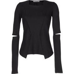 Long sleeve t-shirt ($140) ❤ liked on Polyvore featuring tops, t-shirts, shirts, future, magliette, women, tee-shirt, long sleeve tops, maria luisa paris and long-sleeve shirt
