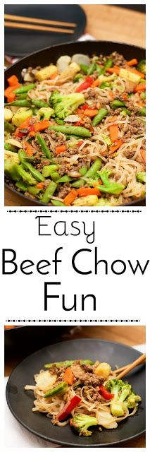 A healthy meal that is also quick and inexpensive.  East Beef Chow Fun