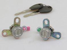 Door Lock Cylinders with Keys New Set L&R Fit Nissan Sentra B15 CA GXE SE XE 2000-2006
