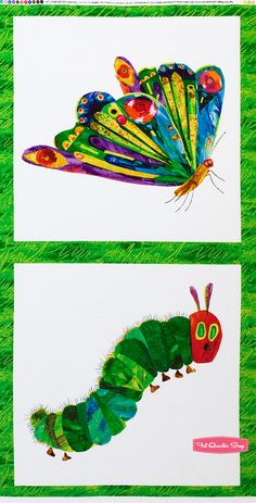 The Very Hungry Caterpillar Multi Character Quilt Panel SKU# 5280-M - Fat Quarter Shop