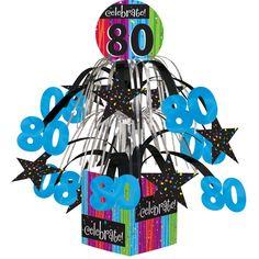 Milestone Celebrations Mini Cascade Centerpiece with Base 80th/Case of 6 Tags: Milestone Celebrations; Centerpieces; General Birthday; general birthday party ideas;general birthday party tableware;milestone birthday party ideas; https://www.ktsupply.com/products/32786323133/Milestone-Celebrations-Mini-Cascade-Centerpiece-with-Base-80thCase-of-6.html