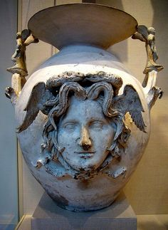 terracotta two-handled vase Canosa di  Puglia Greek