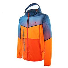 Climbing-Camel Men's Ultra Lightweight Jacket Windbreaker Waterproof Quick Dry Skin Coat Color Orange/Blue Size M -- Want to know more, click on the image.