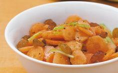 Mrkvový šalát s hrozienkami a jablkami Sweet Potato, Salad Recipes, Salads, Potatoes, Gluten Free, Vegan, Vegetables, Food, Diet