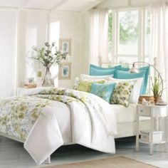 Shop for Harbor House Amelia Cotton Duvet Cover Mini Set. Get free delivery On EVERYTHING* Overstock - Your Online Fashion Bedding Store! Full Size Comforter Sets, Queen Comforter Sets, Duvet Cover Sets, Bedding Sets, Queen Duvet, Harbor House, Blue Bedding, Dream Bedroom, Master Bedroom