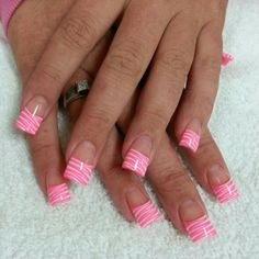 Nails acrylic nails with zebra designs Free Nail Technician Information www. Nail Art Supplies www. Pink Nail Designs, Simple Nail Designs, Acrylic Nail Designs, Acrylic Nails, Nails Design, Zebra Nail Art, Zebra Print Nails, White Tip Nails, Pink Nails