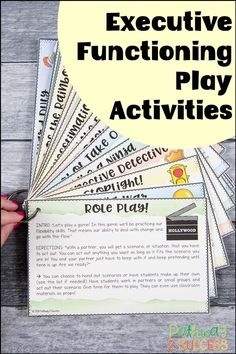 How to play fun and engaging games to practice executive functioning skills! This blog post highlight several activities teachers can use with students to build skills like planning, organization, task initiation, time management, self-control, and more! Social Work, Social Skills, Adhd Strategies, Writing Goals, Executive Functioning, Student Success, Study Skills, Social Emotional Learning, Teaching Materials