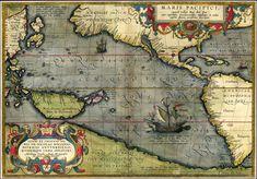 Maris Pacifici (or Pacific Ocean) 1589... map & work of art