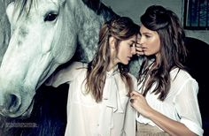 Natasa Vojnovic And Georgina Stojiljkovic By Milos Nadazdin For Elle Serbia's May 2013 CoverShoot - 3 Sensual Fashion Editorials | Art Exhibits - Anne of Carversville Women's News