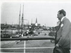 Søren Berthelsen fotograferet i Rønne Havn ca. 1925.