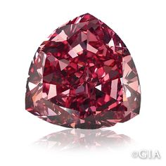 """Moussaieff Red Diamond Originally known as the """"Red Shield,"""" the Moussaieff Red is a triangular brilliant-cut or trilliant-cut, Fancy red (ruby red), internally flawless (IF), carat diamond. It is the largest red diamond in the world today. Minerals And Gemstones, Rocks And Minerals, Crystals And Gemstones, Stones And Crystals, Gem Stones, Healing Crystals, 4 Diamonds, Colored Diamonds, Natural Diamonds"""