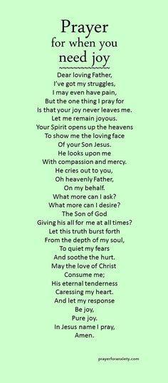 Prayer for joy