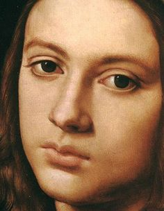 Pietro Perugino ~ Italian painter ~ Umbrian ~ 1495 Close up detail from portrait of a boy Michelangelo, Renaissance Portraits, Renaissance Paintings, Lotus Art, High Renaissance, Italian Painters, Italian Art, Beauty Art, Portrait Art