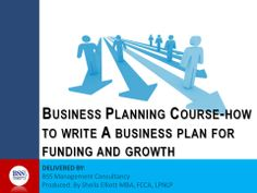 How to write a business plan course