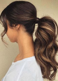 Ponytail Hairstyles You Can Try to Change Your Look 111 Elegant Ponytail Hairstyles for Any Occasion Of 94 Awesome Ponytail Hairstyles You Can Try to Change Your Look in 2020 Long Ponytail Hairstyles, Long Ponytails, Braided Hairstyles For Wedding, Diy Hairstyles, Ladies Hairstyles, Hairstyle Ideas, Puff Ponytail, Black Hair Ponytail, Fancy Ponytail