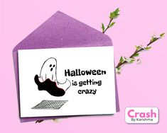 Belated Birthday Card, Funny Birthday Cards, Birthday Greeting Cards, Student Planner Printable, Printable Cards, Printables, Funny Halloween, Halloween Cards, Calligraphy Lessons